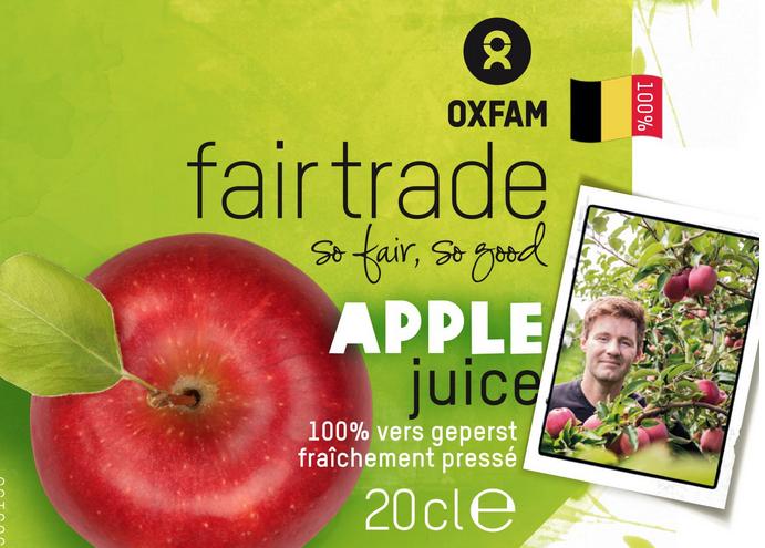 Oxfam Appelsap Etiket
